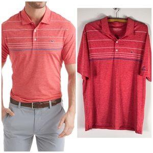 Vineyard Vines Performance Polo Stripe Shirt L